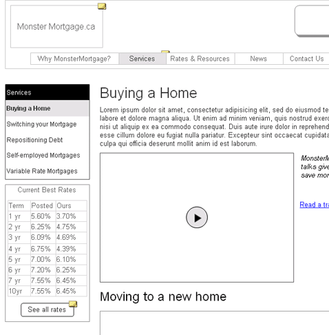 Monster Mortgage Website