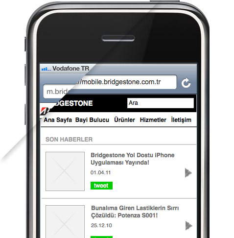 Bridgestone Mobile Website
